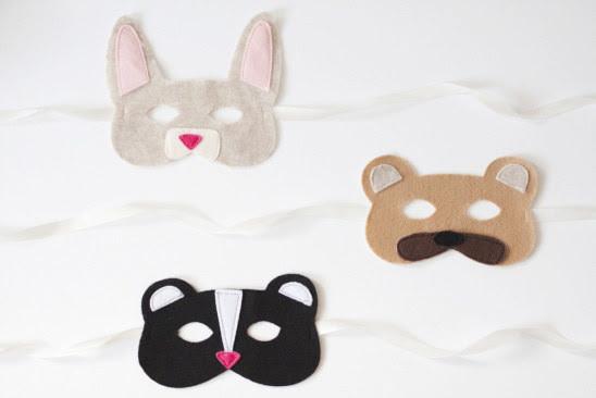 10. Фетровые маски животных дети, поделки, своими руками, сделай сам, творчество