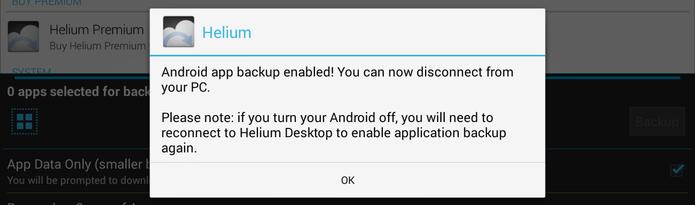 Mensagem mostrará que o aplicativo já está habilitado e que você já pode desconectar o aparelho do computador (Foto: Reprodução/ Lucas Torres)
