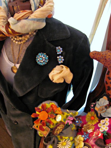 dress form and poodle pins by Stephanie Distler
