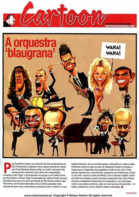 Barcelona Orquestra Sinfonica com Shakira by caricaturas