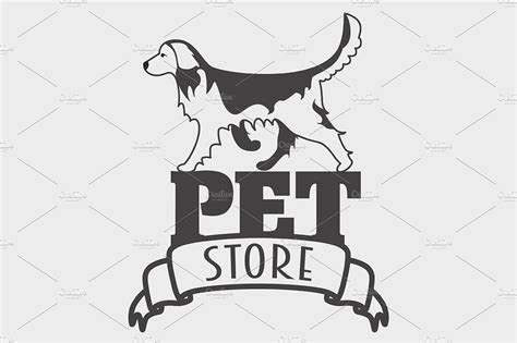 Pet store logo with golden retriever ~ Logo Templates