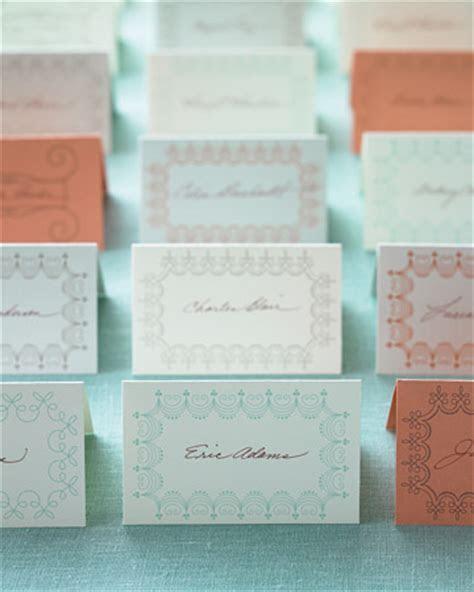 Free Printable: Martha Stewart Place Card Templates