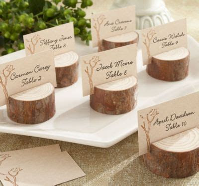 Rustic Tree Wood Place Card Holders   Party City