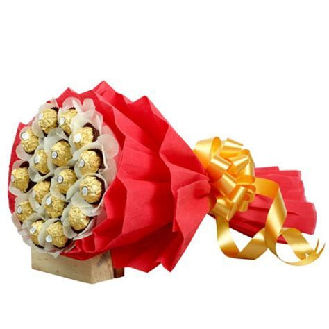 Send Rocher Choco Bouquet Online from BookMyFlowers
