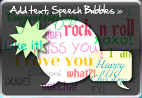 Add text, Speech Bubbles