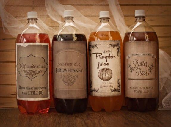 Imprimirbles para Botellas de Harry Potter.