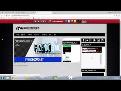 Colocando player no topo do blog/site grátis