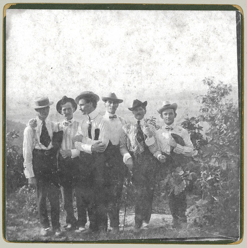 Six guys on a mountain