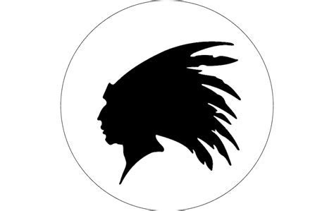 Indian Head Outline dxf File Free Download   3axis.co