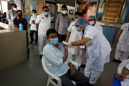 India's vaccination campaign is hampered by technical glitches.