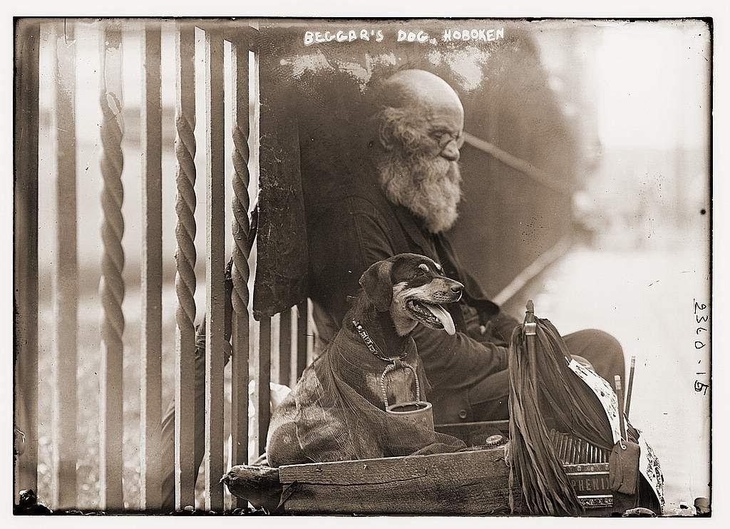 Beggar's Dog - Hoboken. collections of American Library of Congress. Un hombre necesita un perro que lo pasee