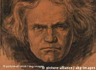A portrait of composer Ludwig van Beethoven