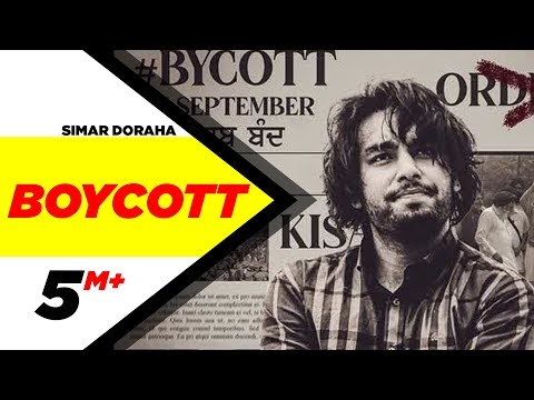 Boycott (Official Video) | Simar Doraha | Black Virus | Latest Punjabi Songs 2020 | Speed Records