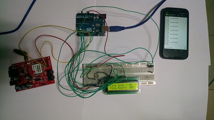 GSM based Fire Alarm Project