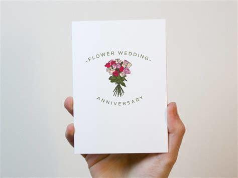 Flower Wedding Anniversary Card   4 Year Wedding