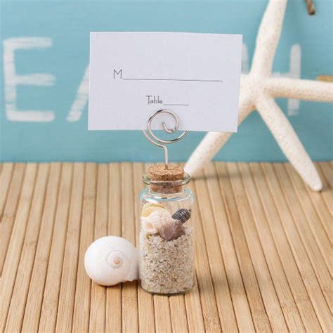Glass Jar with Place Card Holder