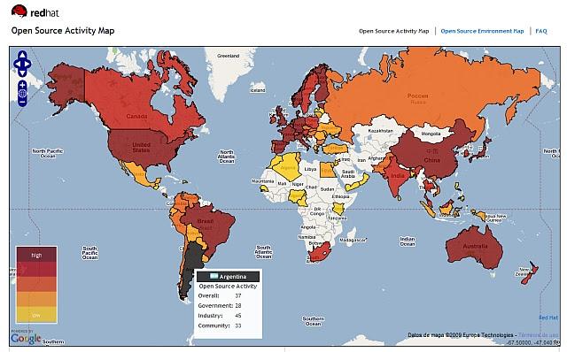 Open Source Activity Map