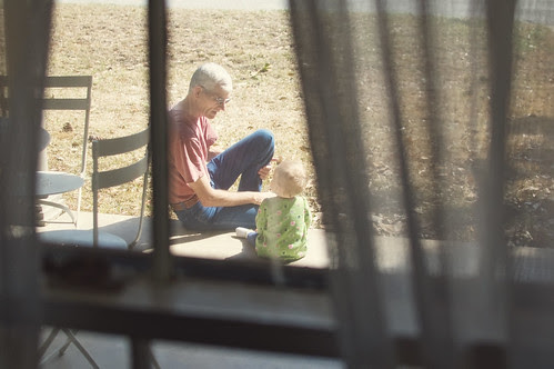 Outside with Grandpa