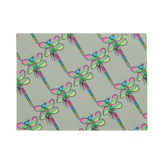 The Buzz of Dragonflies is on this Doormat