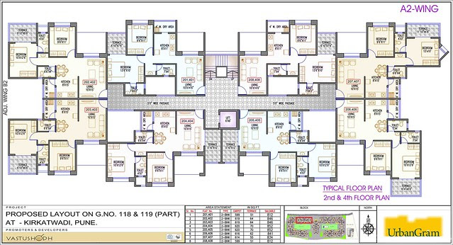 A2 2nd and 4th Floor - 2 BHK Flat for Rs. 25 Lakhs at Urbangram Kirkatwadi on Sinhagad Road Pune 411 024