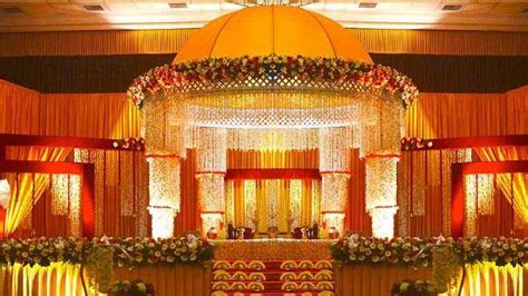 Hindu Wedding Stage Decoration Photos   Archana's
