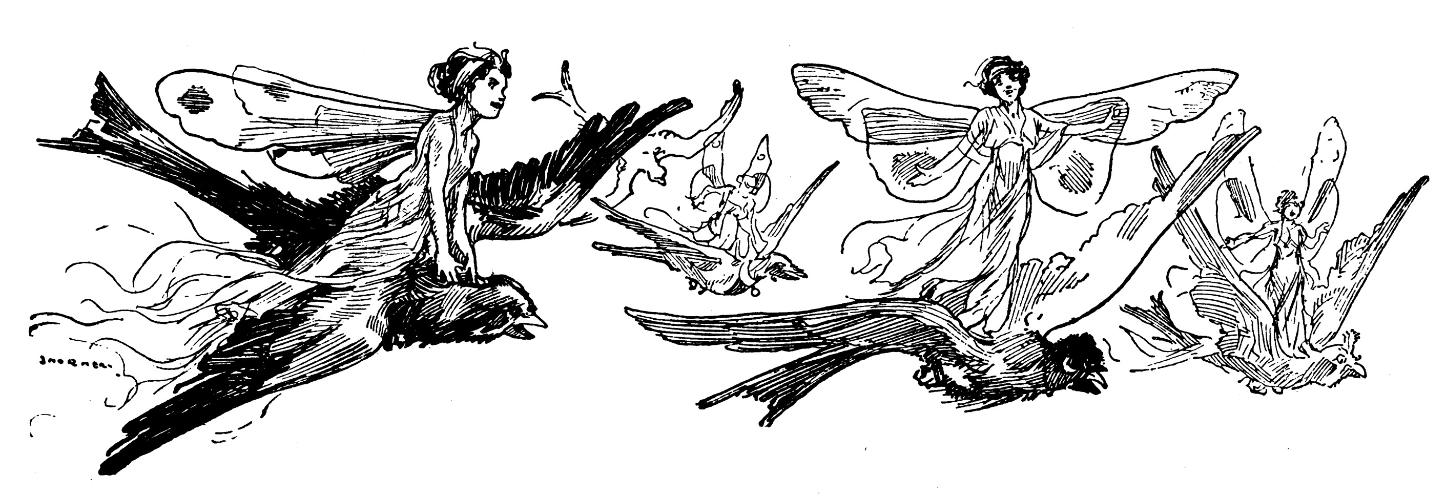 The Flower Fairies sing with the birds