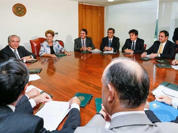 Presidente Dilma Rousseff se reúne no Palácio do Planalto com governadores de estados do Nordeste (Foto: Roberto Stuckert Filho / Presidência da República)