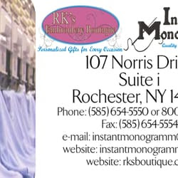 Instant Monogramming, Inc. - Rochester, NY | Yelp