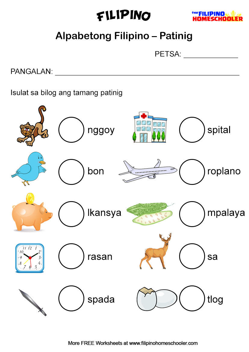 87 PRINTABLE WORKSHEETS FOR GRADE 2 FILIPINO, WORKSHEETS FOR ...