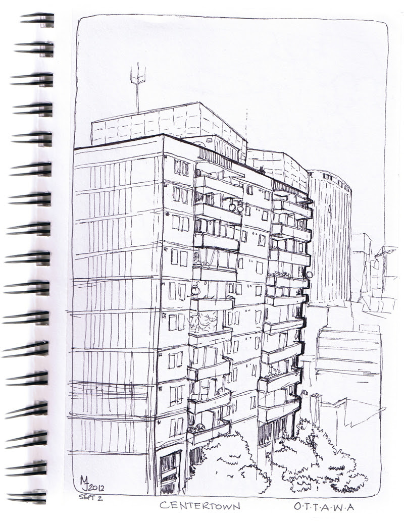 MJ SKETCHBOOK | Apartment building - Centertown, Ottawa