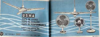 Old Ad for Usha fan
