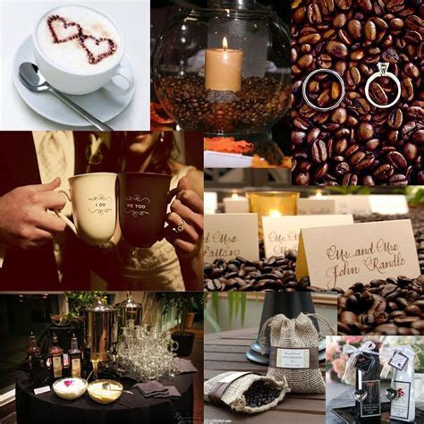 40 best Coffee Themed Wedding Ideas images on Pinterest
