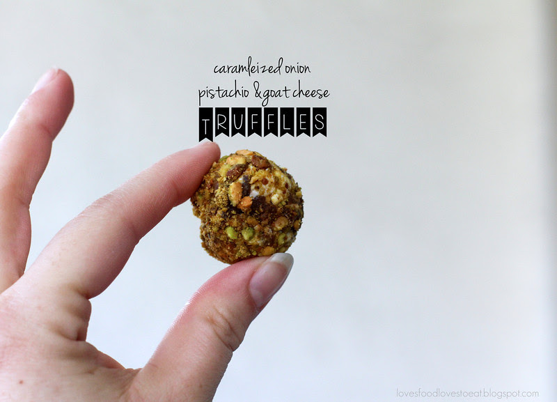 Caramelized Onion & Goat Cheese Truffles// Loves Food, Loves to Eat