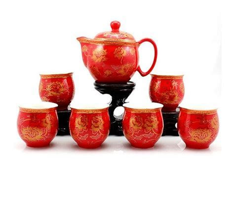 Chinese Wedding Tea Set for Tea Ceremony   TEAPOTS AND TEA