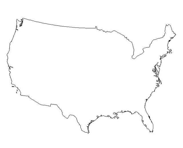 Blank Map Of America - ClipArt Best