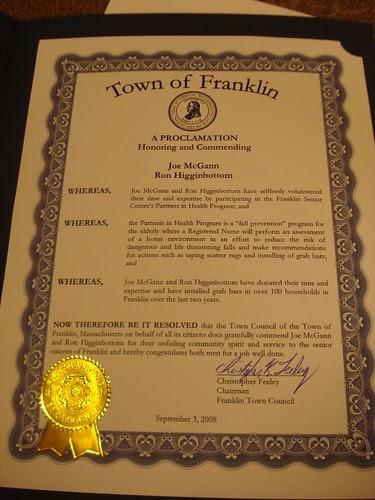Franklin Proclamation