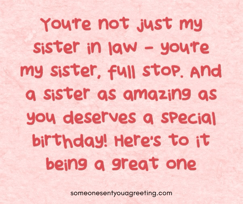 Happy Birthday Sister In Law 53 Wishes Quotes And Images Someone