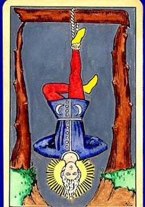 cartea de tarot Spanzuratul