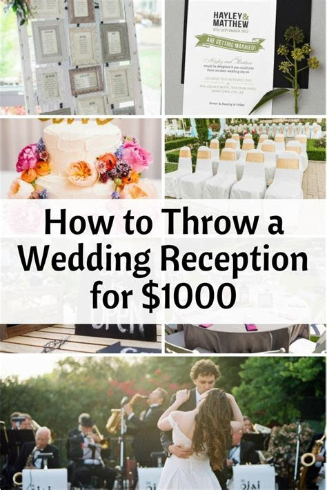 How to Throw a Wedding Reception for $1000   The Budget Diet