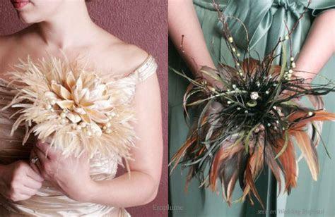 Feather Bouquets ? Wedding Flower Alternative   Wedding