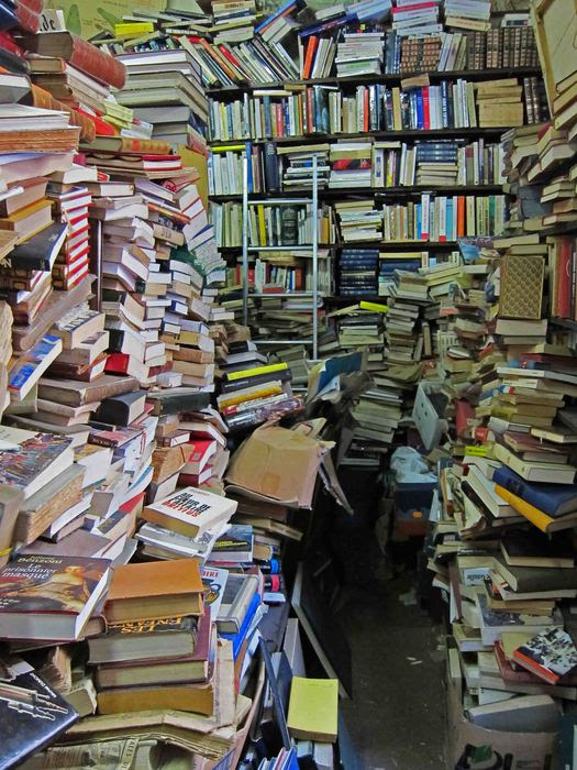 Image result for cluttered bookshelf