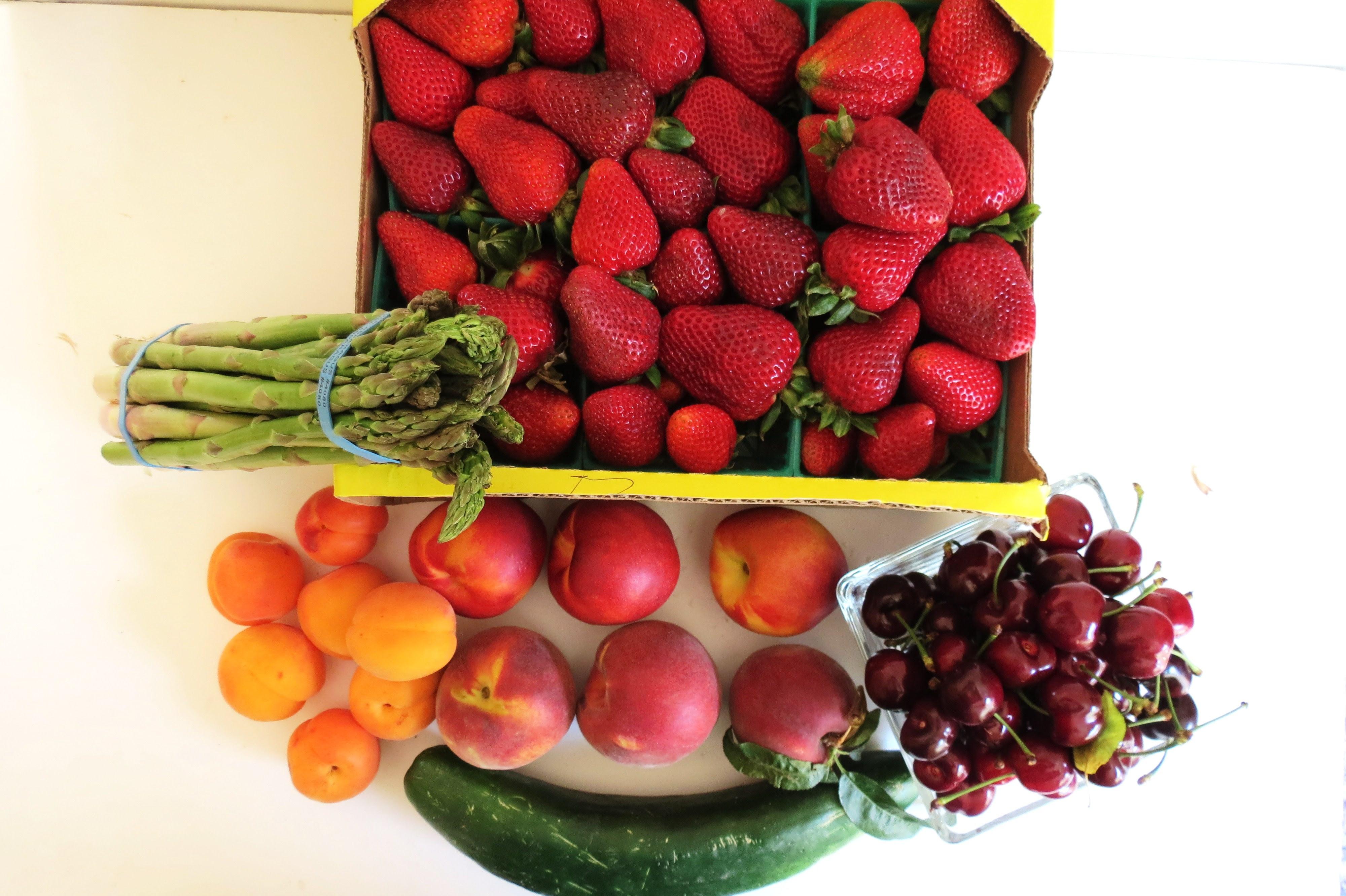 Apricot Pasta Salad / Fruit & Vegetable storage chart
