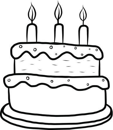 Cake Black And White Images Stock Photos  Vectors