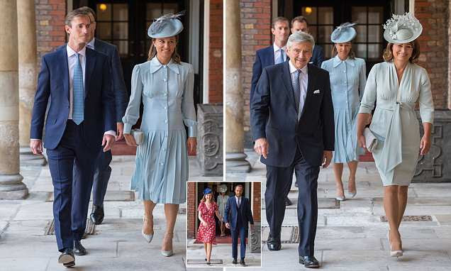 Pregnant Pippa arrives at her nephew Prince Louis' christening