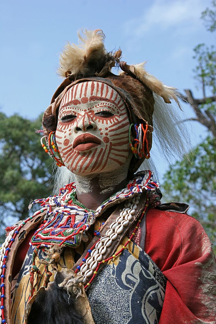 Woman from the Kikuyu tribe in traditional dress