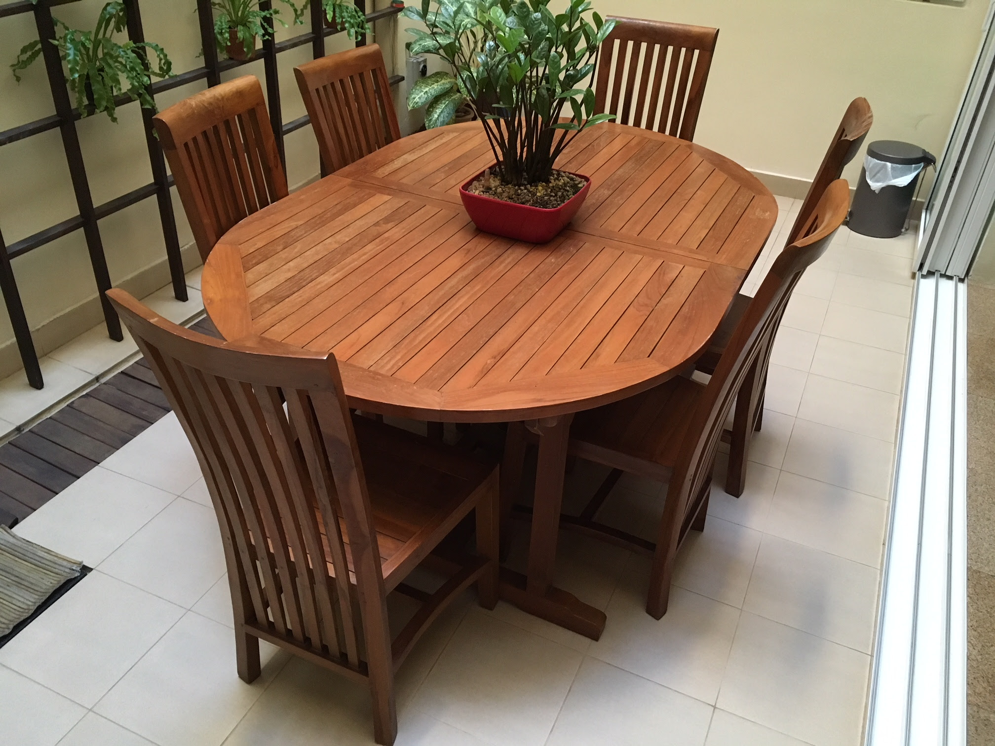 WTS: Used Wooden Teak Extendable Dining Table & 6 Chairs ...