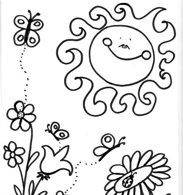 Dibujos Para Colorear De Las Estaciones Del Año Dibujo De La