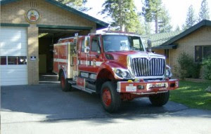 CalFire at times has a truck at the Lake Valley station on Lake Tahoe Boulevard. Photo/CalFire