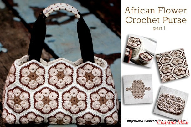 ".  Handbag ""No African Flower"""