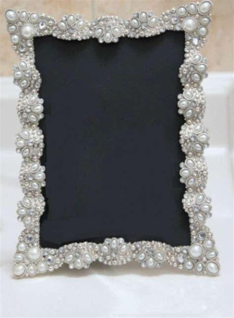 10 Vintage Style Jeweled Rhinestone Frame Bling Silver